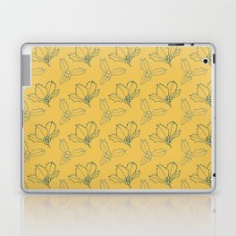 Holy Berries Blue on Gold Laptop & iPad Skin