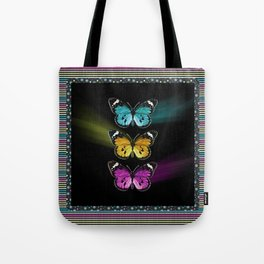 3 colorful butterflies Tote Bag