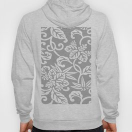 Gray Japanese Leaf Pattern Hoody
