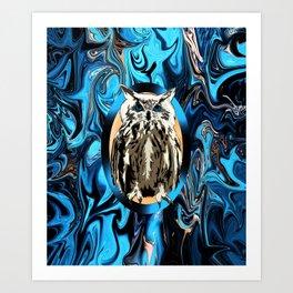 Burn the Midnight Owl Art Print
