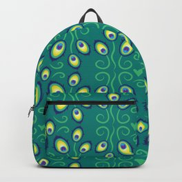 pretty peacock feathers pattern Backpack