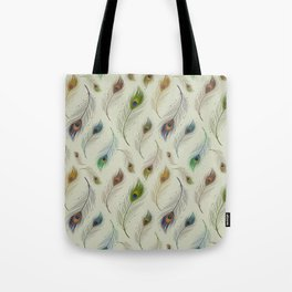 Colorful Peacock Feather Pattern Tote Bag