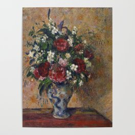Camille Pissarro - Still life with peonies and mock orange Poster