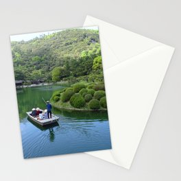 lake in Ritsurin Garden takamatsu japan Stationery Cards