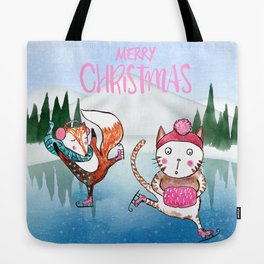 Merry Christmas from Cat and Fox Tote Bag