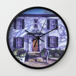 Alphen Hotel in Winter Wall Clock