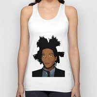 basquiat Tank Tops featuring Basquiat by evanski