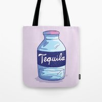 tequila Tote Bags featuring Tequila by - OP -