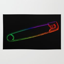 Safety Pin Rainbow Rug