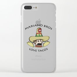 Mariano Bros Love Tacos Clear iPhone Case
