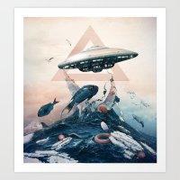 ufo Art Prints featuring UFO by Tanya_tk