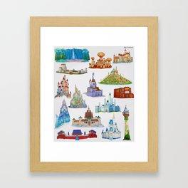 Princess Castles Framed Art Print