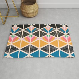 Triangle collage Rug
