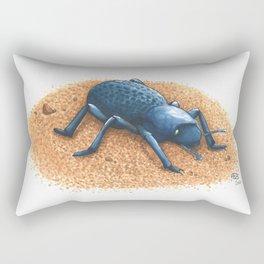 Blue Death Feigning Beetle Rectangular Pillow