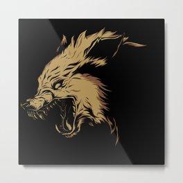 Crying Wolf Metal Print