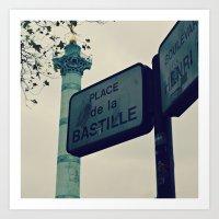 bastille Art Prints featuring Bastille by iokk