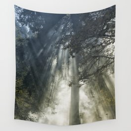 Smoke and Sun Filtered Through a Fir Tree Wall Tapestry