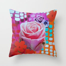Roses Are Free Throw Pillow