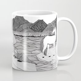 A Meeting by the Water--B&W Coffee Mug