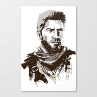 uncharted Canvas Prints featuring Uncharted 3 by James Brunner