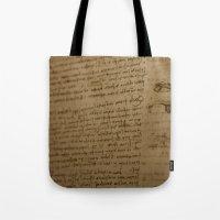 da vinci Tote Bags featuring Da Vinci I by Megan