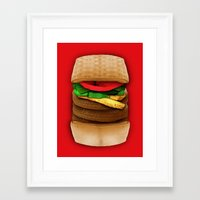 junk food Framed Art Prints featuring Junk Food by Andrea Orlic