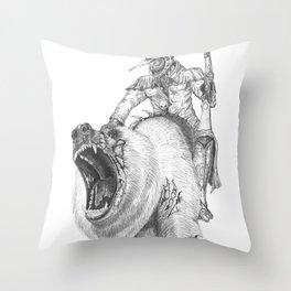Lizard & Rot the Undead Bear Throw Pillow