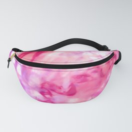 Artsy Abstract Summer Neon Pink Purple Tie Dye Fanny Pack