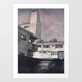 Tokyo at Night #08 Art Print