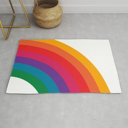 Retro Bright Rainbow - Right Side Rug