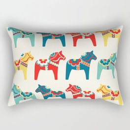 Swedish Horses Rectangular Pillow