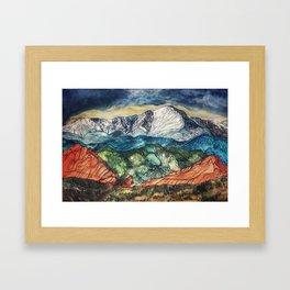 Pikes Peak Print Framed Art Print