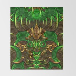 Jungle Roots Temple Throw Blanket
