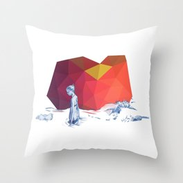 River Girl Throw Pillow