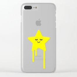Sleepy star Clear iPhone Case