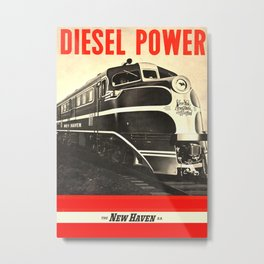 Diesel Power Metal Print