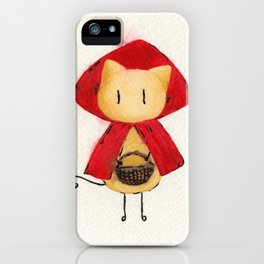 Little Red Riding Stickitty iPhone Case
