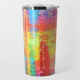 I have found my joy - prophetic art abstract expressionism rainbow colourful braille contemporary Travel Mug