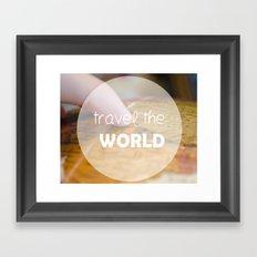 Travel the world Framed Art Print