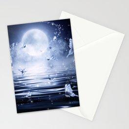 Night Butterflys Stationery Cards
