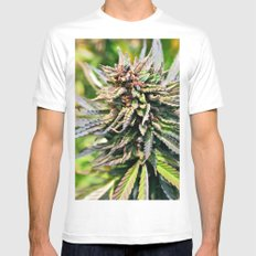 Purple Sticky Punch White MEDIUM Mens Fitted Tee