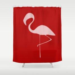 Flamingo Night Shower Curtain