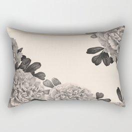 Flowers on a winter day Rectangular Pillow