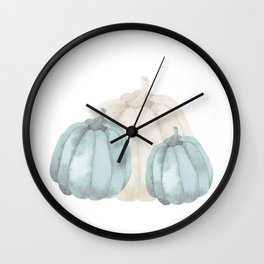 3 pumpkins Wall Clock
