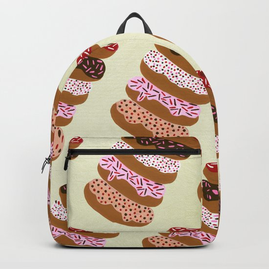 Stacked Donuts on Cream Backpack