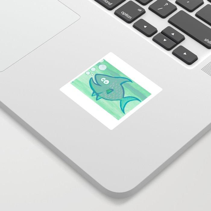 Happy Fish Sticker By Cassandraauker Society6