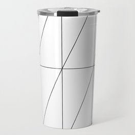 Inverted Triangles by Friztin Travel Mug