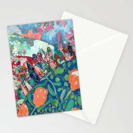 Floral Migrant Quilt Stationery Cards