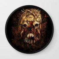 tomb raider Wall Clocks featuring Tusken Raider by Sirenphotos