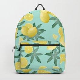 Lemon Twist Vibes #4 #tropical #fruit #decor #art #society6 Backpack